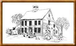 Matthew Curtiss house drawn by Steven Kellogg